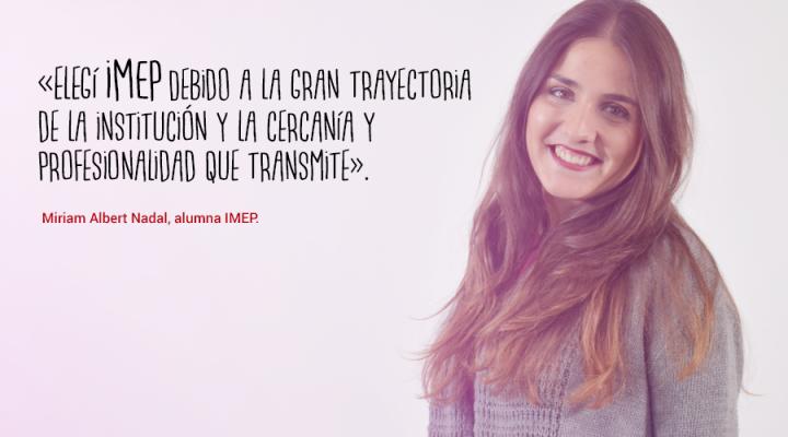 """Miriam Albert: """"Me gustaría ser gestora de eventos culturales, conferencias y ferias"""""""