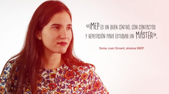 Entrevista a Sonia Juan, alumna del Máster IMEP