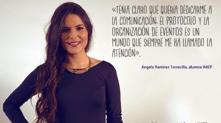 """Ángela Ramírez: """"Gracias al máster sé las funciones exactas de las relaciones institucionales"""""""