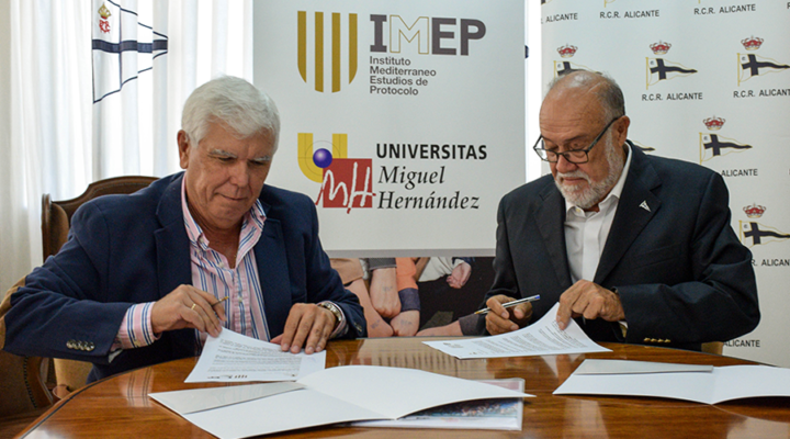 IMEP firma un convenio con el Real Club de Regatas de Alicante