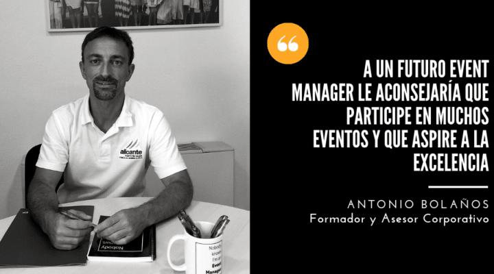 Antonio Bolaños, nuevo director del Experto en Organización de Eventos, Protocolo y Comunicación.