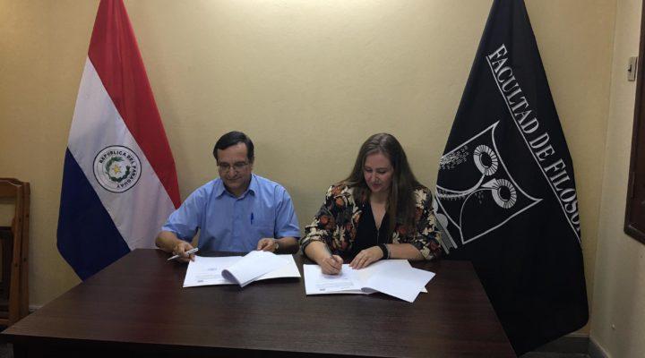 IMEP firma un Convenio Marco de colaboración con la Facultad de Filosofía de la Universidad Nacional de Asunción.