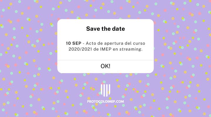 Acto de Apertura del curso 2020/2021 en streaming