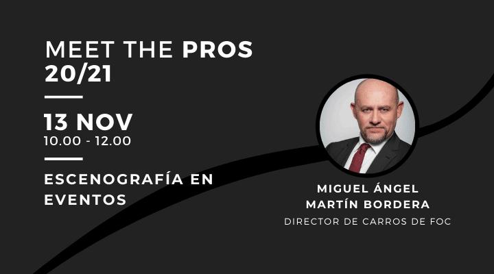 MEET THE PROS |  Escenografía en eventos con Miguel Ángel Martín, de Carros de Foc