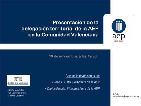 Nueva delegación de la AEP en Valencia. Acto de Presentación